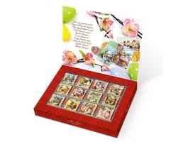 """Шоколадный подарок """"Пасхальные открытки"""" 60г. Верность качеству."""