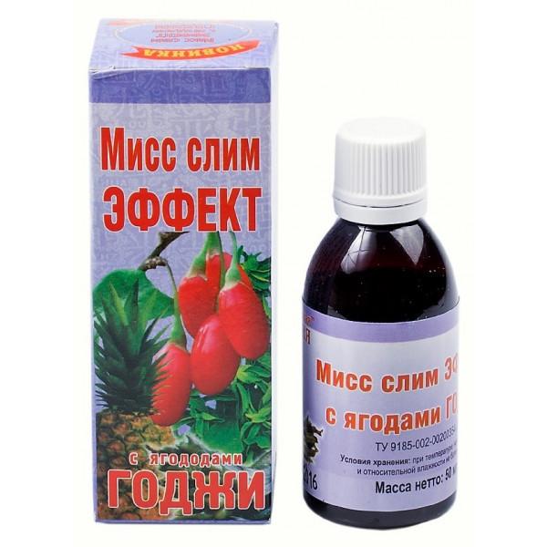 Сироп крымской стевии для похудения «Мисс слим эффект с ягодами годжи» 50мл