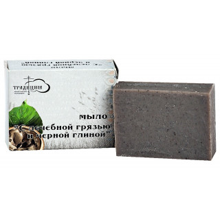 Мыло «С лечебной грязью и черной глиной» 80г