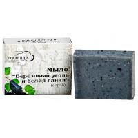 Мыло «Березовый уголь и белая глина» скраб 80г